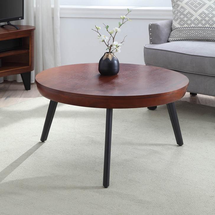 San Francisco Round Walnut Coffee Table - JF712-W - 1