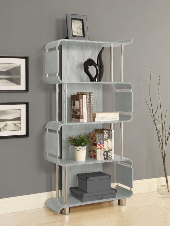 Curve Grey Bookcase