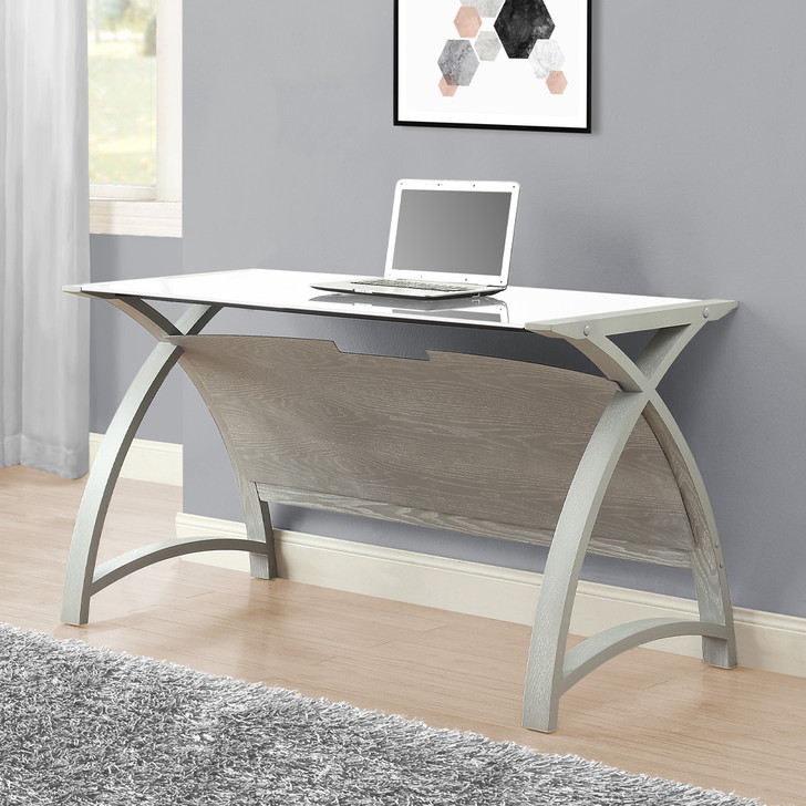 Curve Home Office Grey Table (130cm)