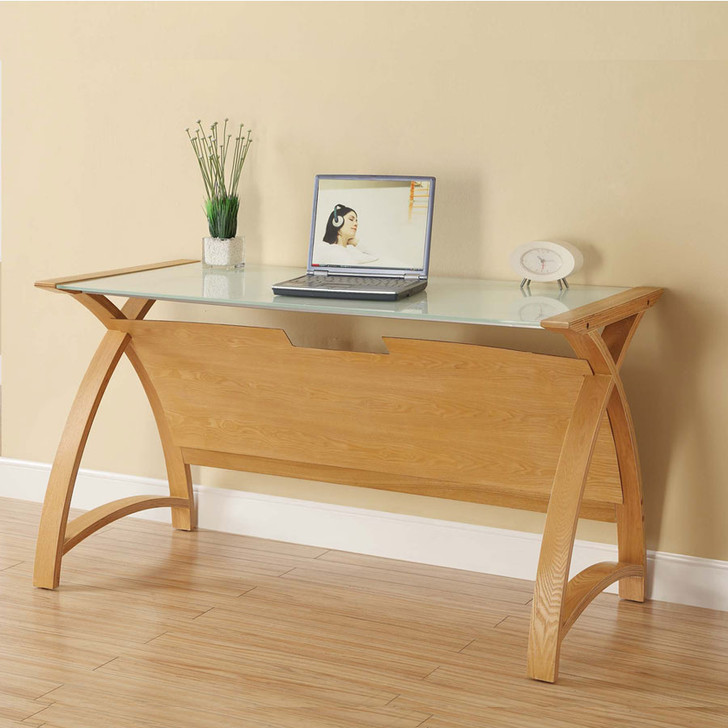 Curve Home Office Oak Table (130cm) - JF-PC201-1300-OT - 1