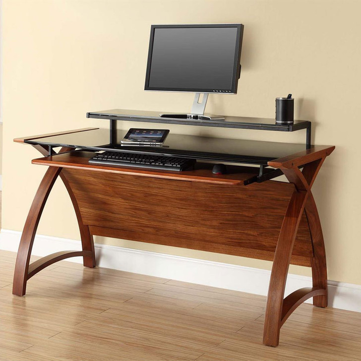 Curve Home Office Large Walnut Desk (130cm) - JF-PC201-1300-WD - 1