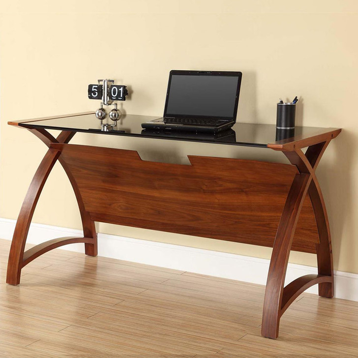 Curve Home Office Walnut Table (130cm) - JF-PC201-1300-WT - 1