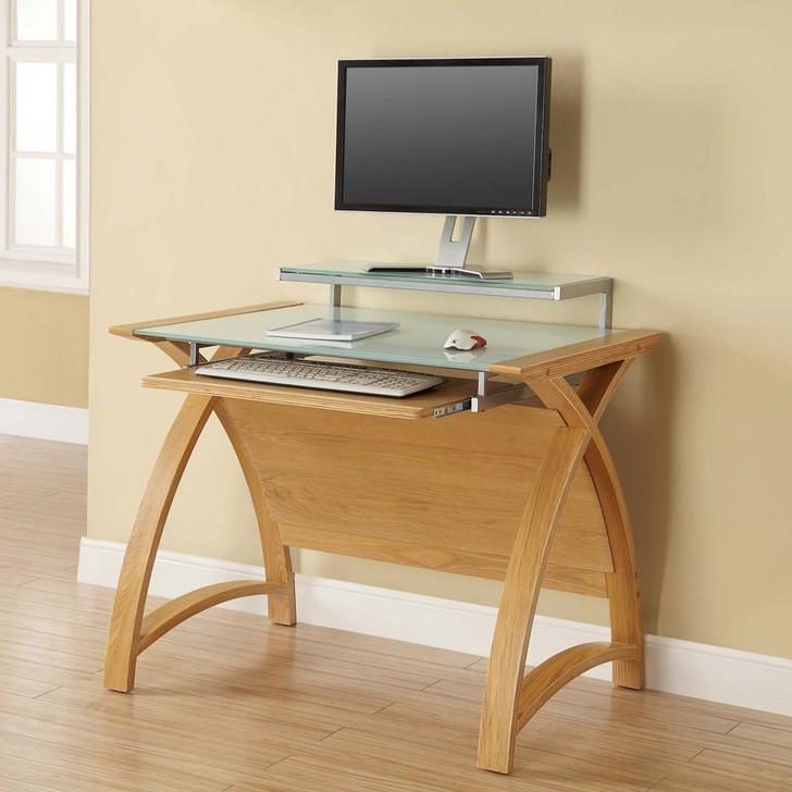 Curve Home Office Oak Desk (90cm) - JF-PC201-900-OD - 1