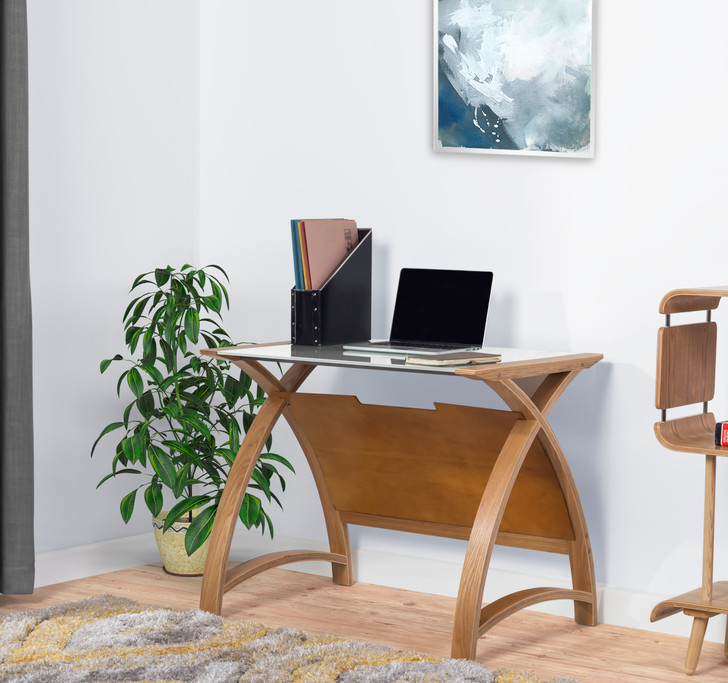 Curve Home Office Oak Table (90cm) - JF-PC201-900-OT - 1