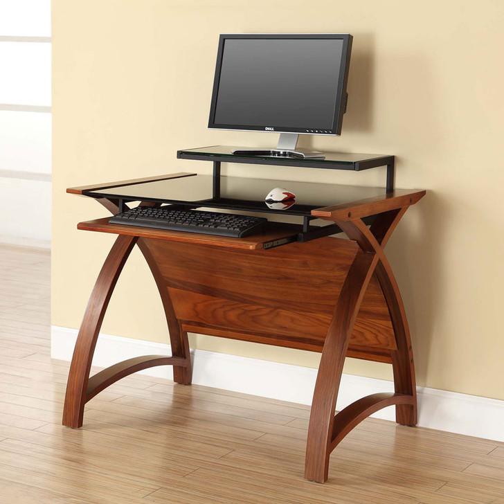 Curve Home Office Walnut Desk (90cm) - JF-PC201-900-WD - 1