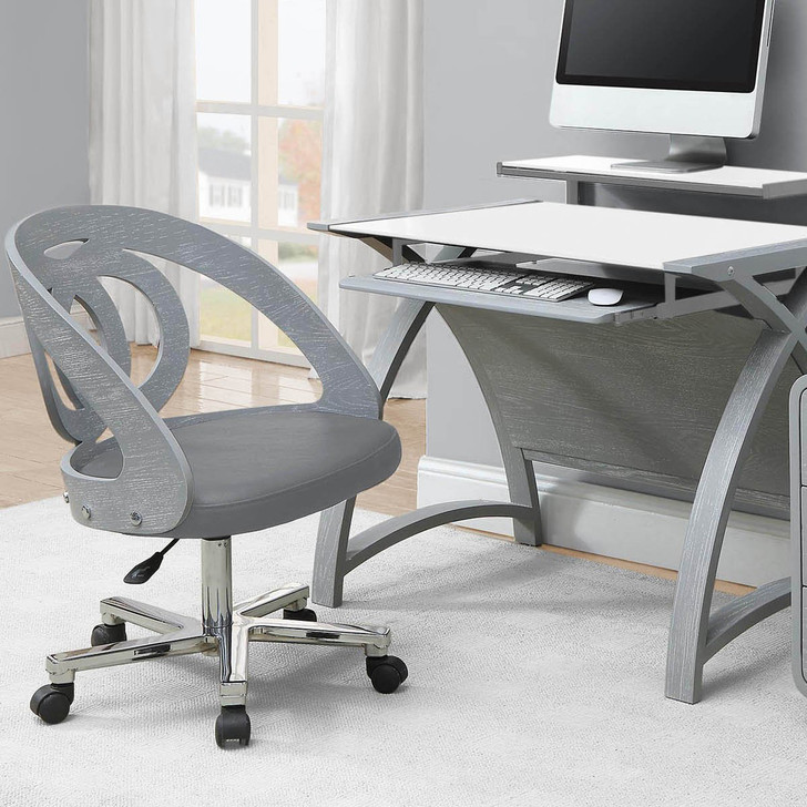 Curve Home Office Grey Ash Chair - JF-PC606-GC - 4