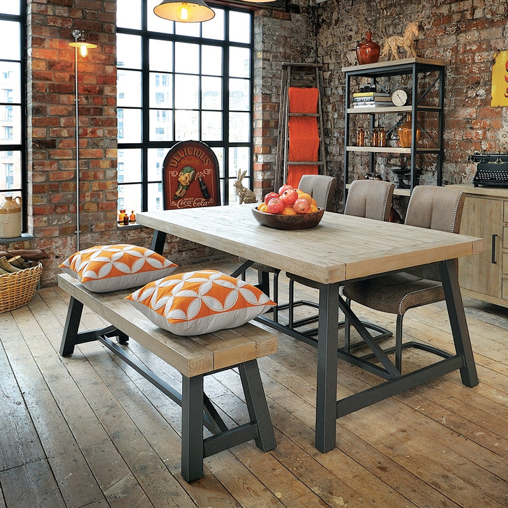 Hulstone Industrial 200cm Dining Table - LOW01 - 1