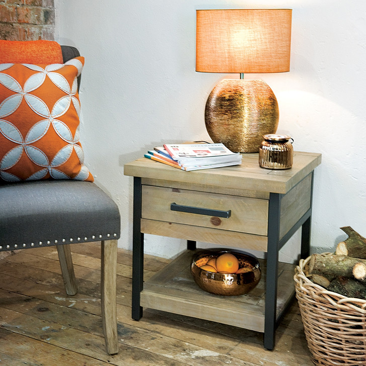 Hulstone Industrial Side Table - LOW10 - 1