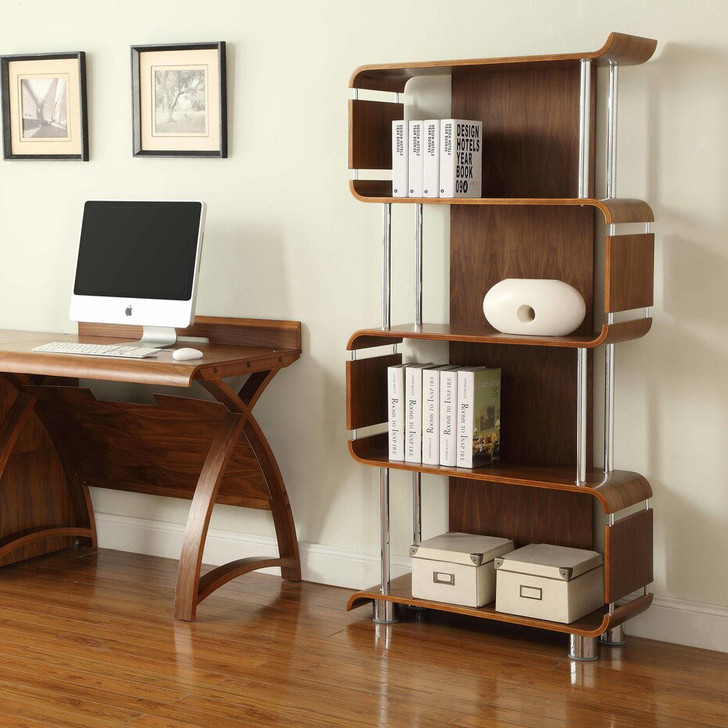 NuHolme Office Walnut Bookcase