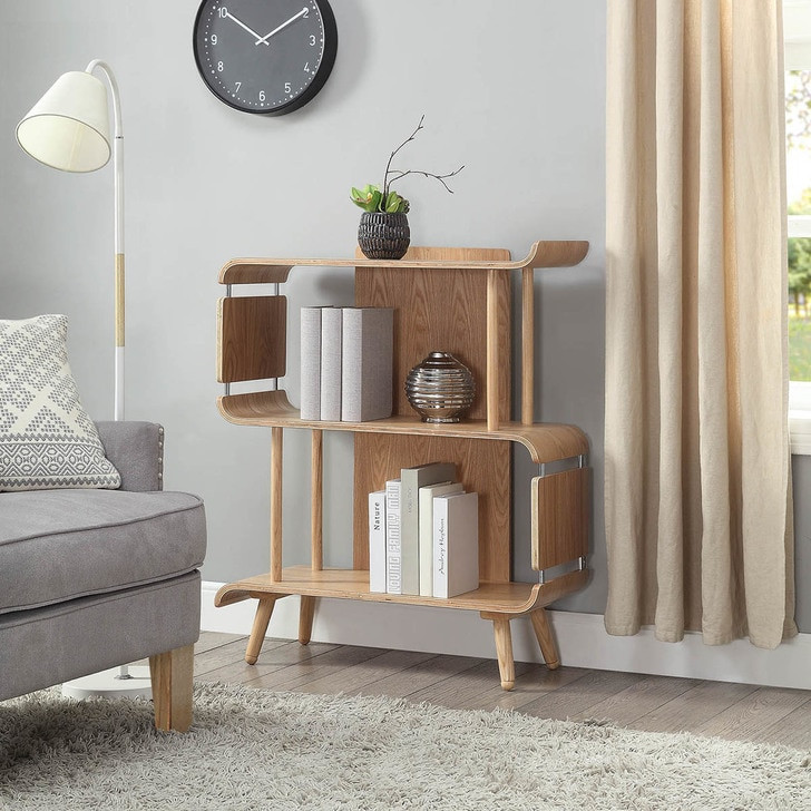 NuHolme Office Short Oak Bookcase