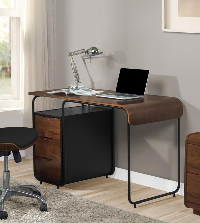 Manhattan Three Drawer Walnut Desk - 1