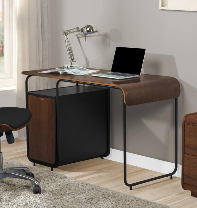 Manhattan Cabinet Walnut Desk - 1
