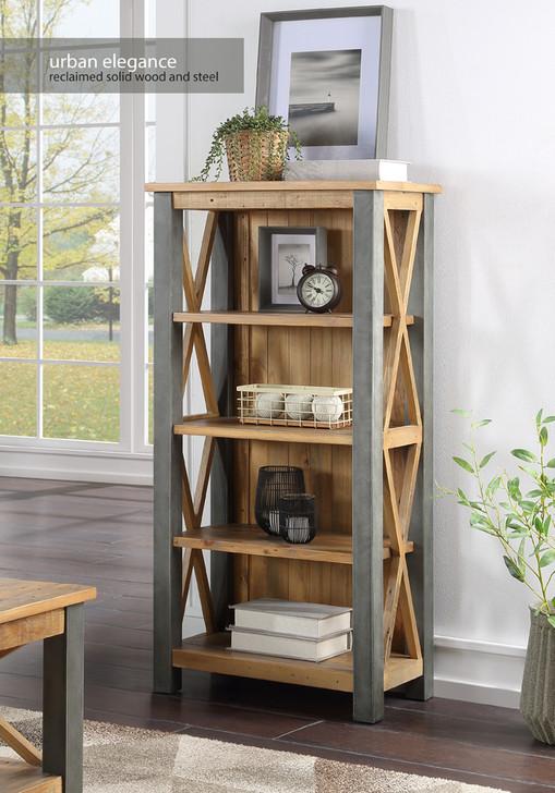 Urban Elegance Reclaimed Small Bookcase - VPR01B - 1