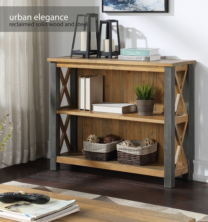 Urban Elegance Reclaimed Low Bookcase - VPR01F - 1