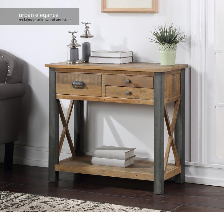 Urban Elegance Reclaimed Small Console Table - VPR02B - 1