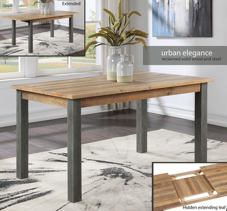 Urban Elegance Reclaimed Extending Dining Table - VPR04B - 1