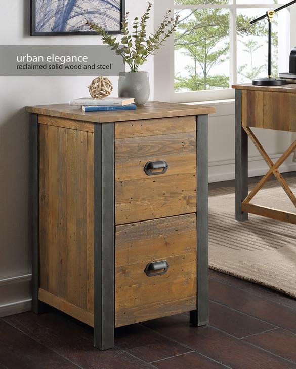 Urban Elegance Reclaimed Two Drawer Filing Cabinet - VPR07A - 1