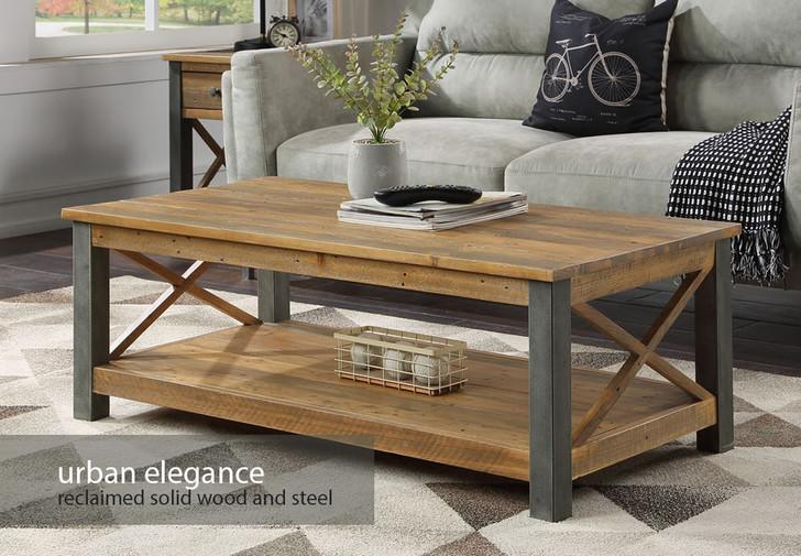 Urban Elegance Reclaimed Coffee Table - VPR08A - 1