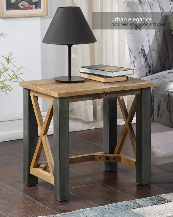 Urban Elegance Reclaimed Open Front Side / Lamp Table - VPR08B - 1