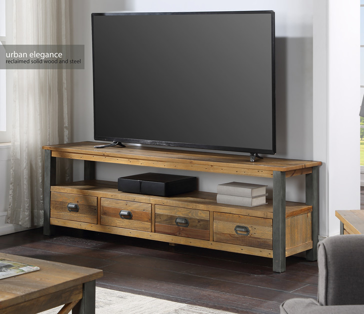 Urban Elegance Reclaimed Extra Large Widescreen TV unit - VPR09B - 1