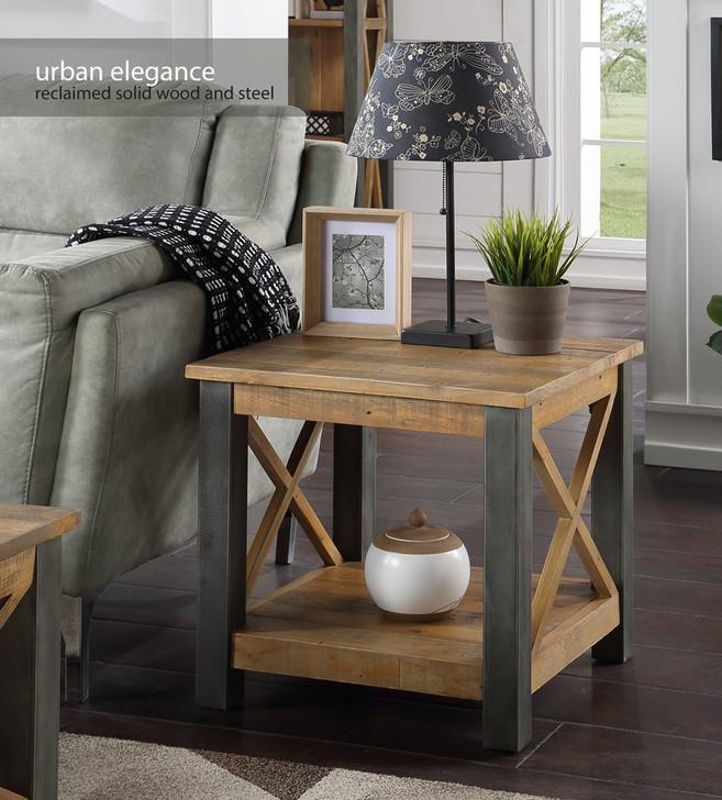 Urban Elegance Reclaimed Lamp Table - VPR10A - 1