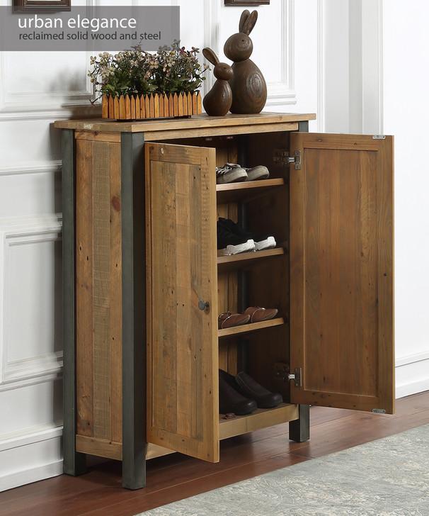Urban Elegance Reclaimed Small Shoe Storage Cupboard - VPR20A - 1