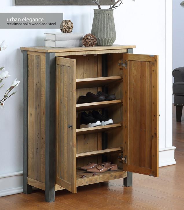 Urban Elegance Reclaimed Large Shoe Storage Cupboard - VPR20B - 1
