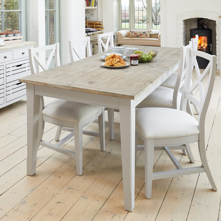 Signature Grey Extending Dining Table with Six Chairs - WFS-CFF-DF01 - 1