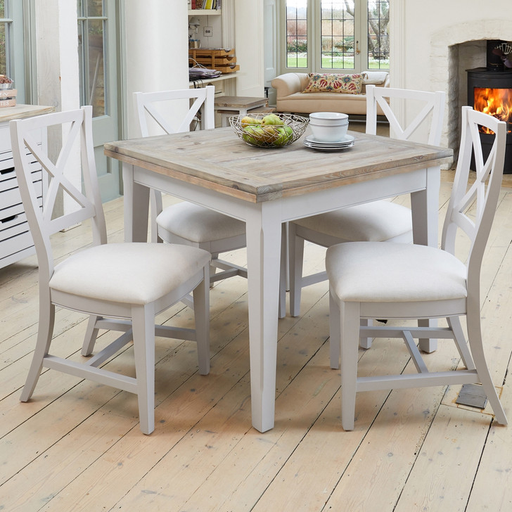 Signature Grey Extending Dining Table and Four Chairs - WFS-CFF-DF02 - 1