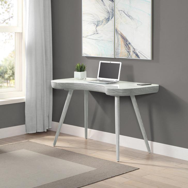 San Francisco Curved Executive Grey Desk