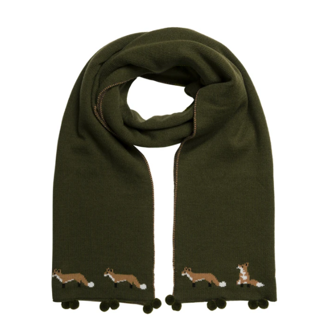 Fox  Knitted Scarf