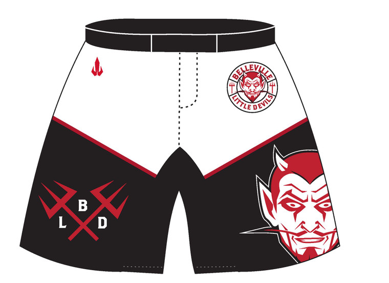 WarriorSport Custom Sublimated Shorts Front View