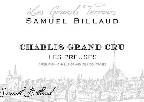Billaud/Samuel Chablis Grand Cru Les Preuses 2018