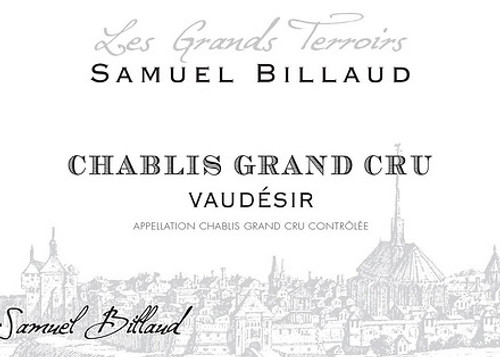 Billaud/Samuel Chablis Grand Cru Vaudésir 2018