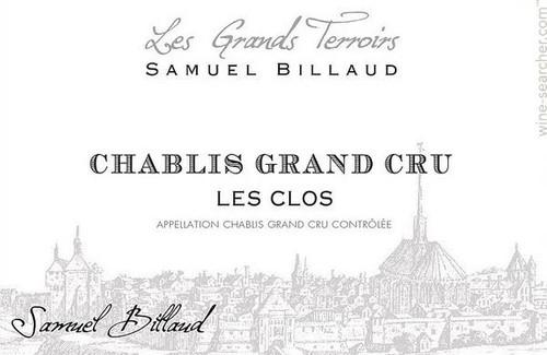 Billaud/Samuel Chablis Grand Cru Les Clos 2018