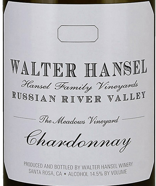 Walter Hansel Chardonnay Russian River Valley The Meadows 2018