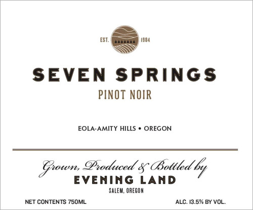 Evening Land Pinot Noir Eola-Amity Hills Seven Springs 2017