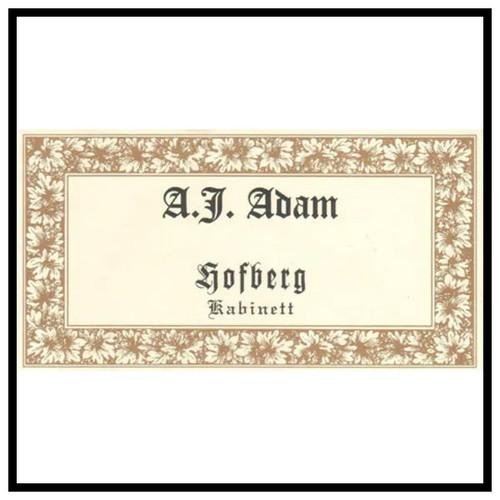 Adam/A.J. Riesling Kabinett Dhroner Hoffberg 2018