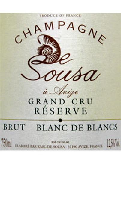 de Sousa Brut Champagne Blanc de Blancs Grand Cru Réserve NV