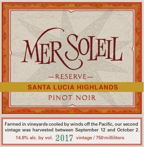 Mer Soleil Pinot Noir Reserve Santa Lucia Highlands 2017