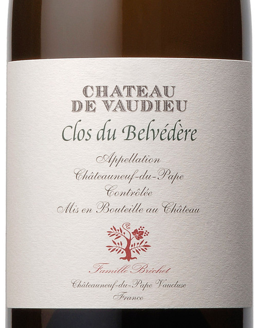 Vaudieu Châteauneuf-du-Pape Blanc le Clos du Belvédère 2016