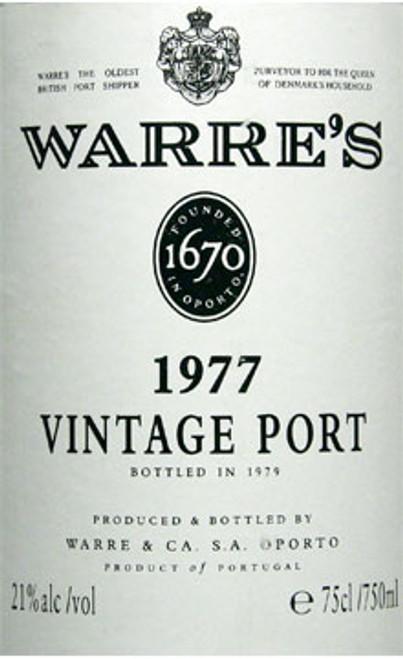 Warre's Vintage Port 1977