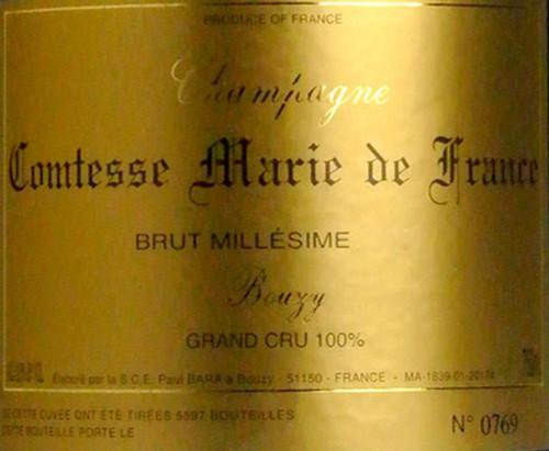 Paul Bara Brut Champagne Grand Cru Comtesse Marie de France 2008