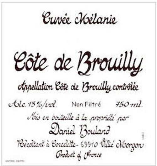 Bouland/Daniel Côte de Brouilly Cuvée Mélanie 2019