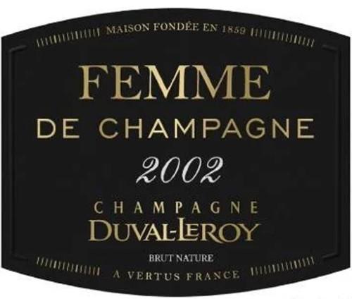 Duval-Leroy Brut Champagne Cuvée Femme de Champagne 2002