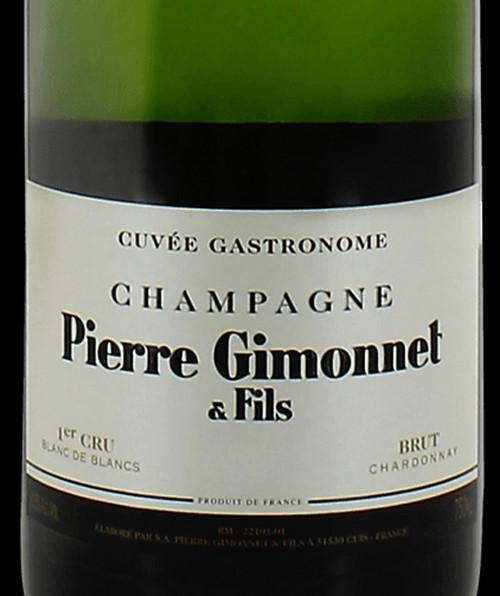 Gimonnet Brut Blanc de Blancs Champagne Cuvée Gastronome 2015