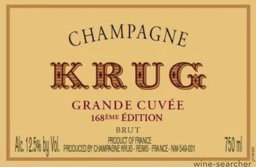 Krug Brut Champagne Grande Cuvée Edition 168 NV