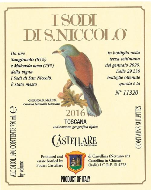 Castellare di Castellina Toscana I Sodi di San Niccolò 2016 1.5L