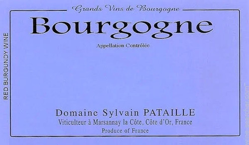 Pataille/Sylvain Bourgogne Rouge 2018