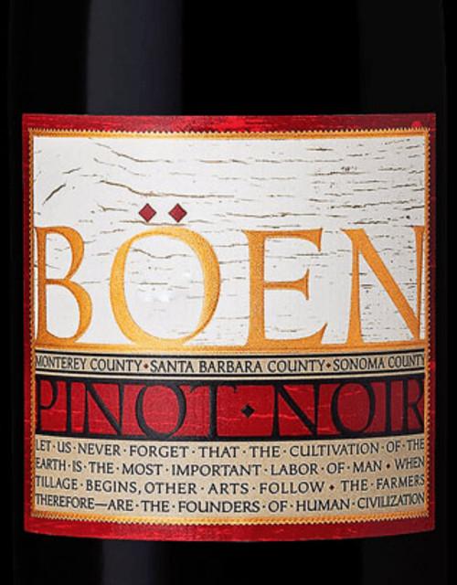 Böen Pinot Noir Sonoma-Monterey-Santa Barbara Counties 2018